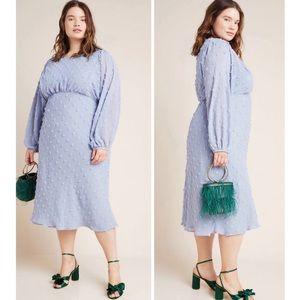 Anthropologie | Eri + Ali Michaela Blue Midi Dress
